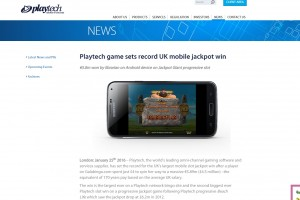 Playtech mobile jackpot win