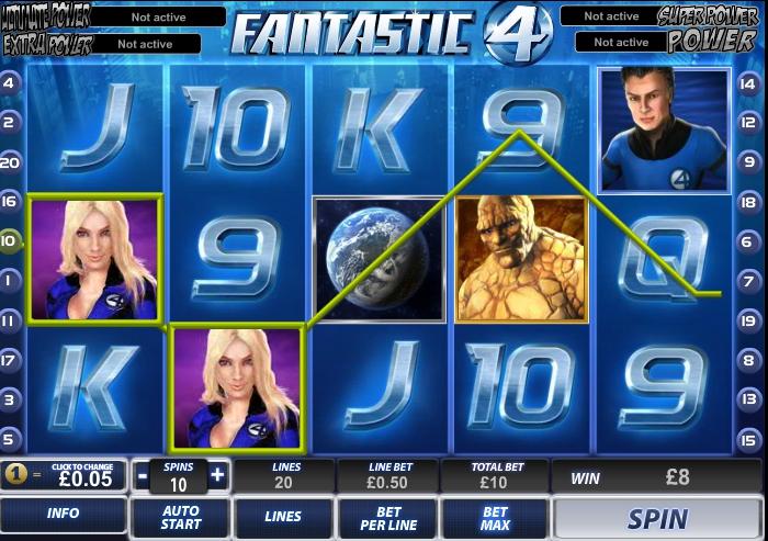 Игровой автомат Fantastic 4